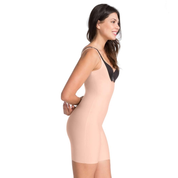 Spanx Thinstincts™ Open-Bust Mid-Thigh Bodysuit Soft Nude