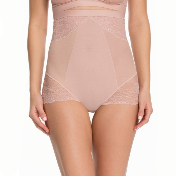 Spanx Spotlight on Lace High-Waisted Brief Vin Rose