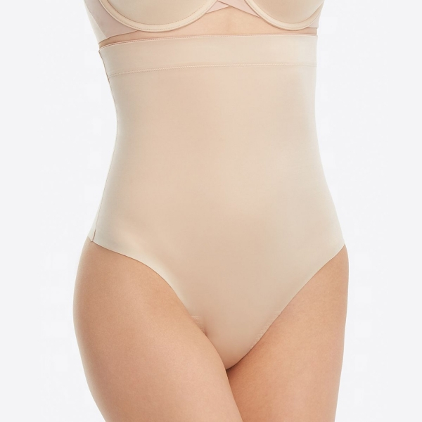 Spanx Suit Your Fancy High-Waisted Thong Champagne Beige