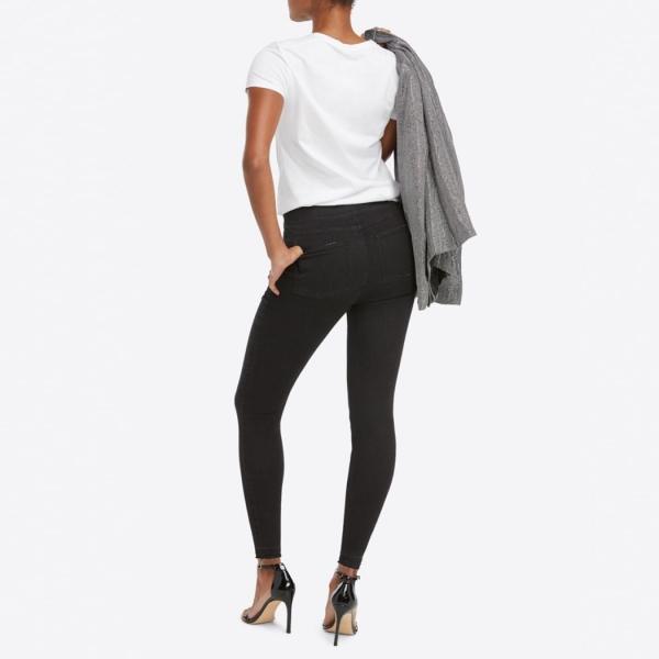 Spanx Distressed Skinny Jeans Vintage Black