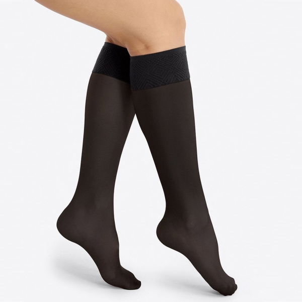 Spanx Graduated Compression Ladies Hi-Knee Socks, 8-15mmHg Black