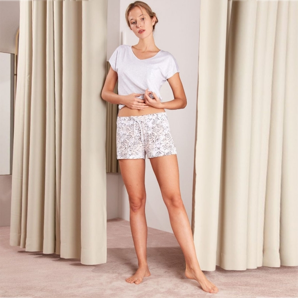 Palmers Base Tee Ladies Nightwear Shirt Grey