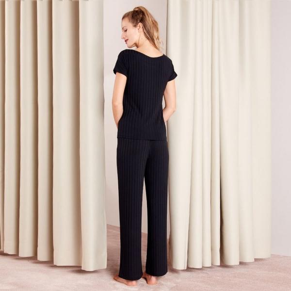 Palmers Rib Deluxe Ladies Shirt Black