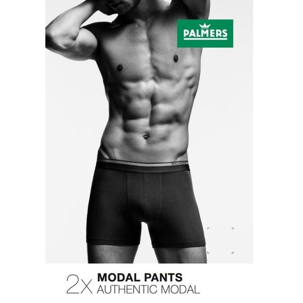 Palmers Authentic Modal Double Pack Men's Boxer Black