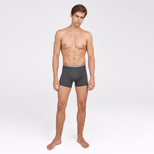 Palmers Authentic Modal Double Pack Men's Boxer Anthracite