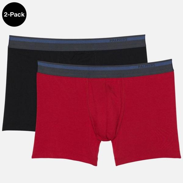 Palmers Authentic Modal Men's Boxer Shorts Red-Black