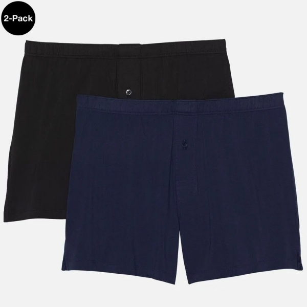 Palmers Sport Cotton Men's Boxer Blue/Black