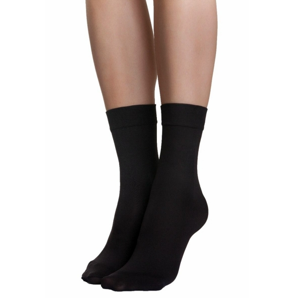 Palmers Velvet Touch 80 Ladies Socks Black
