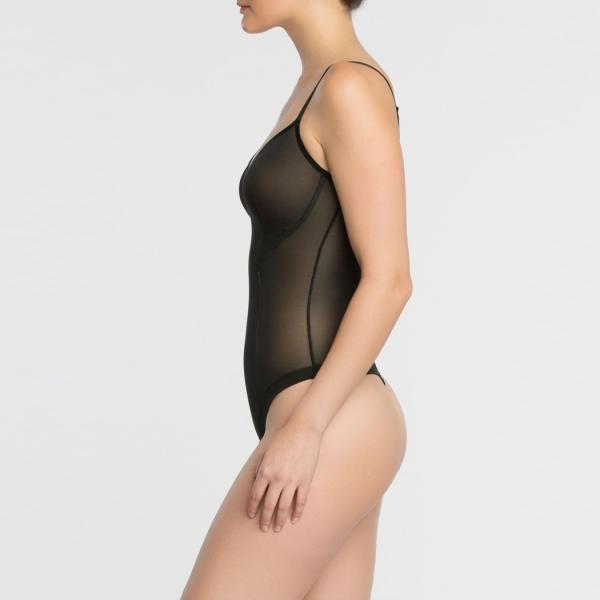 Spanx Haute Contour Nouveau Thong Bodysuit Very Black