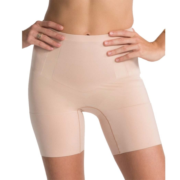 Spanx OnCore Mid-Thigh Short Soft Nude