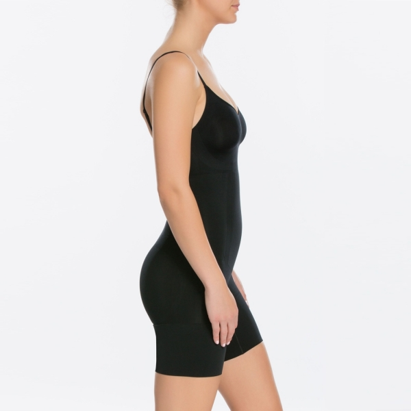 Spanx OnCore Mid-Thigh Bodysuit Very Black
