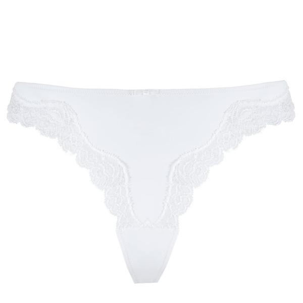 Palmers Micro Fine Γυναικείο Εσώρουχο Στρινγκ Λευκό
